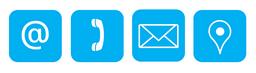 Kontaktmöglichkeiten: Anschrift / Post / Telefon / Email